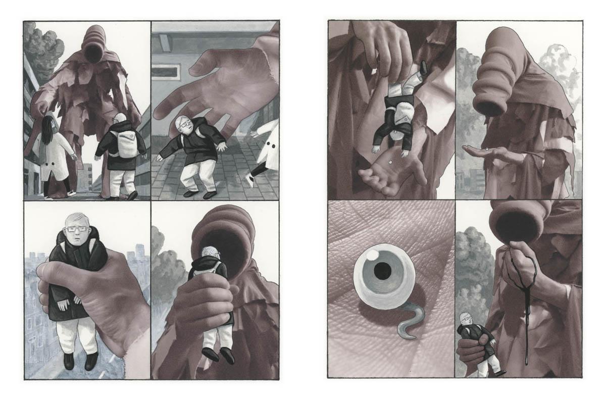 Muggen blz combi tekeningen & fotografische elementen