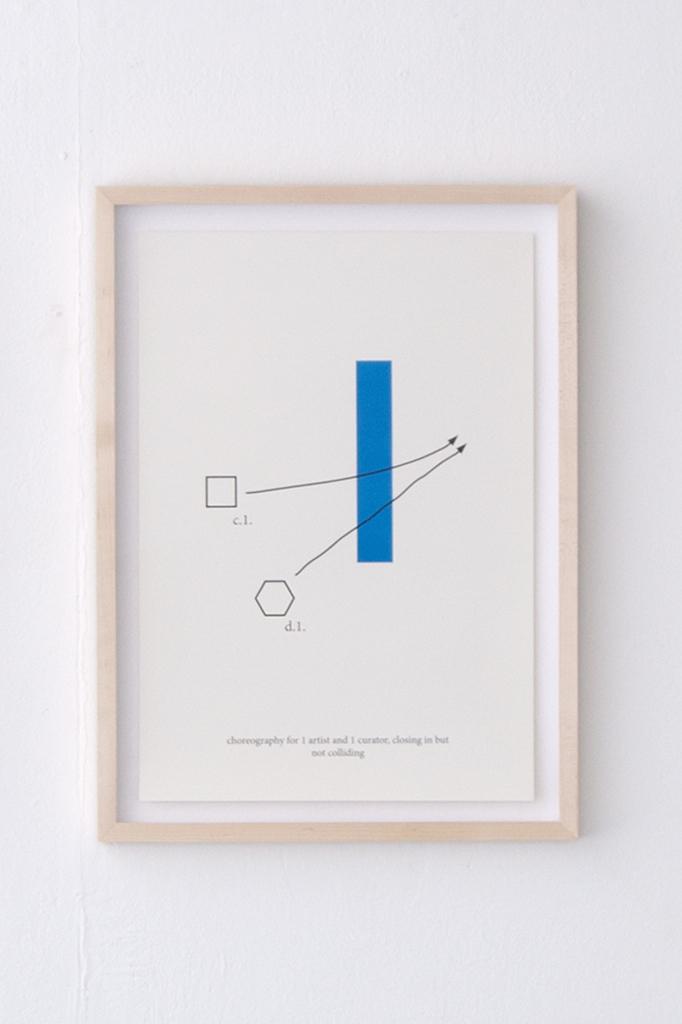 5 Choreography for 1 artist and 1 curator (45 x 32 cm ) © Tim Hollander, 2014 kopie