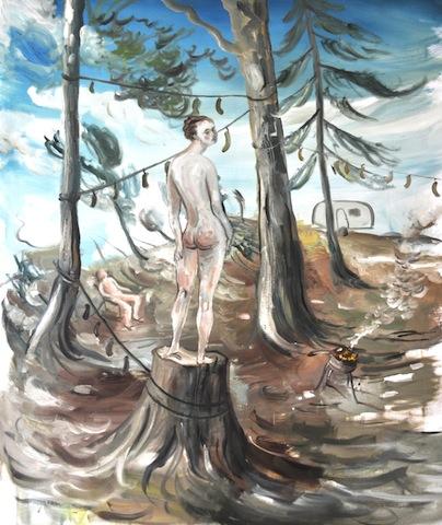 4. De vakantie van één van de drie Gratiën 130 x 120 cm.