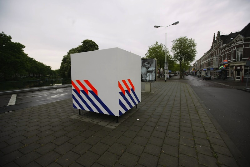 13 Sil Krol - White box with Blue and Orange stripes, 2010