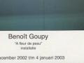 A FLEUR DE PEAU Benoît Goupy